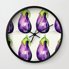 Eggplant Garden Wall Clock