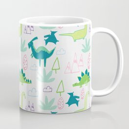 Dino Fun land Grey Coffee Mug