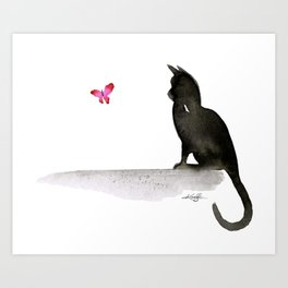 I Love Cats No.4 by Kathy Morton Stanion Art Print