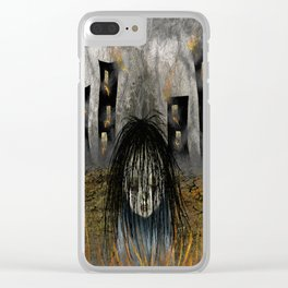 Fiery Guilt Clear iPhone Case