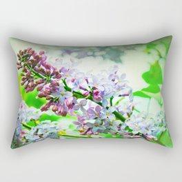 Lilacs In The Green Rectangular Pillow