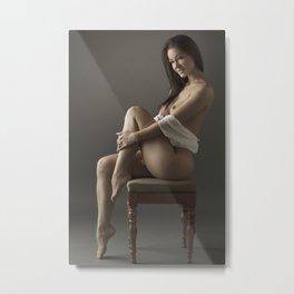 beige stockings 15 Metal Print