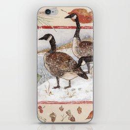 Three Geese in Winter iPhone Skin