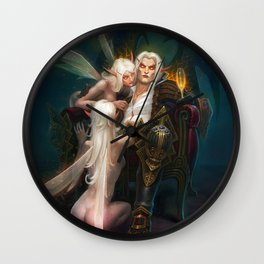 Evening elves Wall Clock