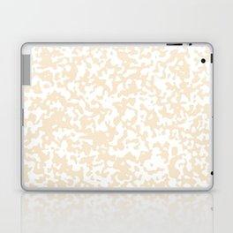 Small Spots - White and Champagne Orange Laptop & iPad Skin