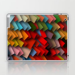 colorful rectangles with shadows Laptop & iPad Skin