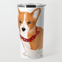 Cute corgi puppy,cowboy style tshirt  Travel Mug