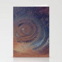 nasa Stationery Cards featuring eye in the sky, eye in the desert (nasa #01) by _mackinac