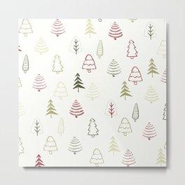 Winter Trees in Snowy Day Metal Print