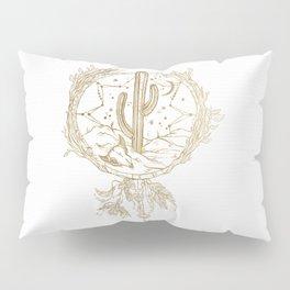 Desert Cactus Dreamcatcher in Gold Pillow Sham