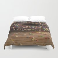 donut Duvet Covers featuring Donut by LaiaDivolsPhotography