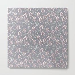 Grey and rose Metal Print