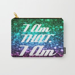 I AM THAT I AM Affirmation Galaxy Sparkle Stars Carry-All Pouch