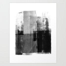 Black and White Minimalist Geometric Abstract Art Print