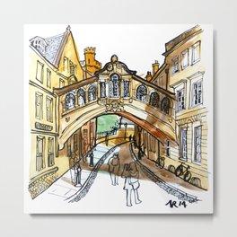 Bridge of Sighs, Oxford Metal Print