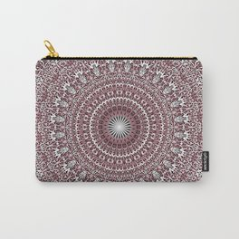 Light Pink Floral Mandala Carry-All Pouch