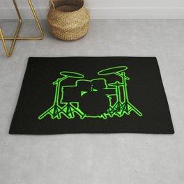 Neon Drum Kit Rug