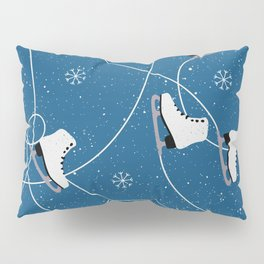 Christmas Holidays Ice Skating Pattern Pillow Sham
