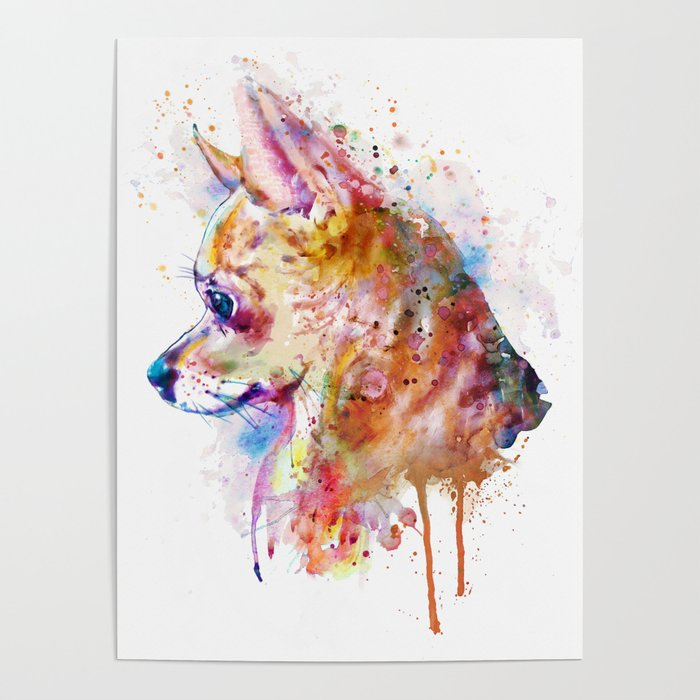 Watercolor Chihuahua Poster