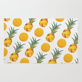 Pineapple Dot Pattern Rug