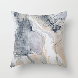 As Restless as the Sea: a minimal abstract painting by Alyssa Hamilton Art Throw Pillow