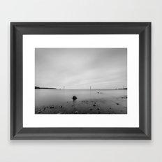 The Limestone Cableway Framed Art Print