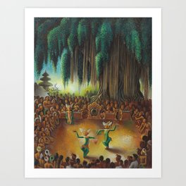 Harlem Renaissance African American 'Performance Under the Banyan Tree' by Miguel Covarrubias Art Print
