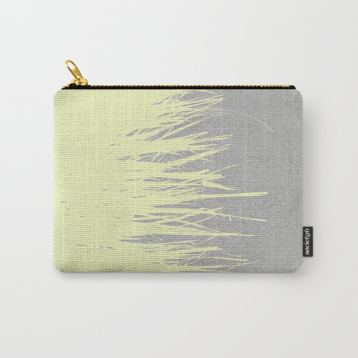 Concrete Fringe Yellow Carry-All Pouch