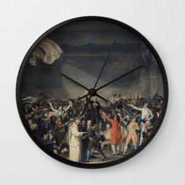 Jacques-Louis David - Serment du Jeu de paume, le 20 juin 1789 Wall Clock