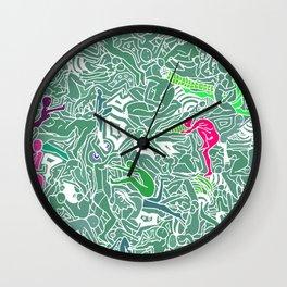 Body Map - Sea Green Wall Clock