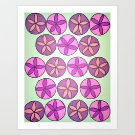 Pink and Purple Floral Pattern Art Print