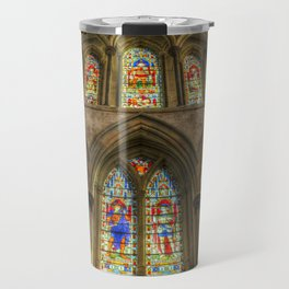 Rochester Cathedral Stained Glass Windows Travel Mug