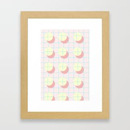 Peach Grids Framed Art Print
