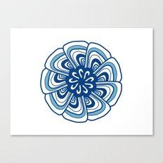 Blue & white mandala Canvas Print