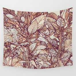 abstract camouflage leaves Wall Tapestry