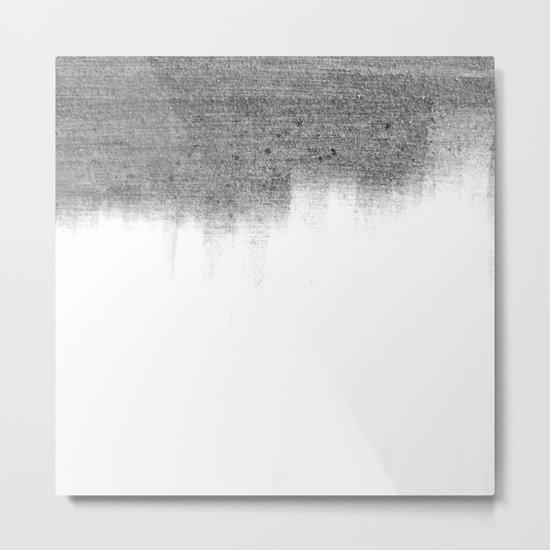 Urban Concrete White Wash Metal Print