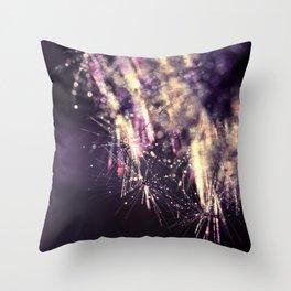 dandelion purple III Throw Pillow