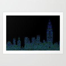 Midnight in NYC Art Print