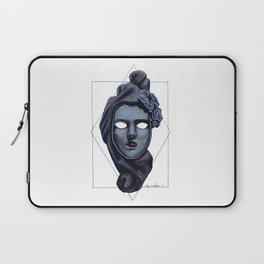 Female Venetian Mask | Watercolor and Colored Pencil  Laptop Sleeve