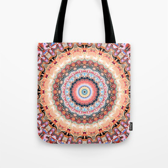 Textured Circles Abstract Tote Bag