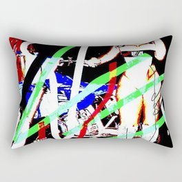 biker's girlfriend Rectangular Pillow