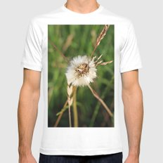 beauty faded thistle MEDIUM White Mens Fitted Tee