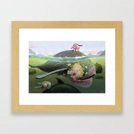 Amigos Ballena Framed Art Print