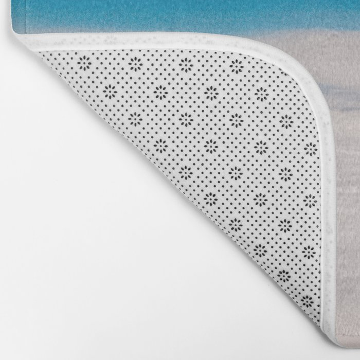 Blue and White at the sky Bath Mat