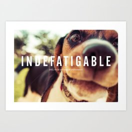 INDEFATIGABLE Art Print
