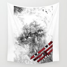 asc 164 - The Red Baron & Newton I (Le château des nuages) Wall Tapestry