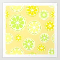 Lemon world Art Print