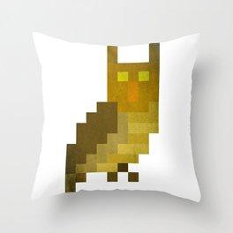 Pixel owl Throw Pillow