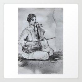 Indian Musician Art Print