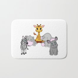 Animal Friends Bath Mat
